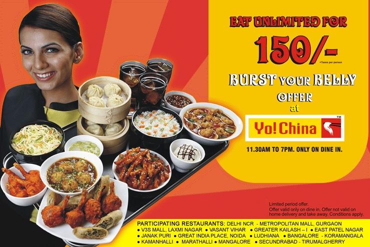 Burst Ur Belly @ Yo China, Bangalore
